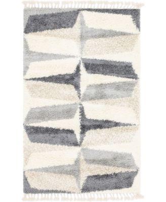 Lochcort Shag Loc6 Gray 5' x 8' Area Rug
