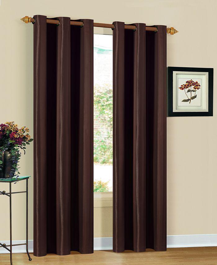 "Duck River Textile - Herringbone 30"" x 84"" Window Panel Pair"