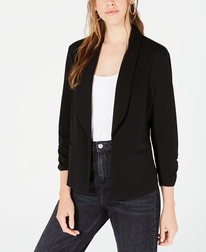 Bar III - Ruched-Sleeve Blazer, Created for Macy's