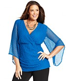 Style&co. Plus Size Top Three-Quarter-Sleeve Lace