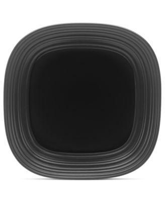 Mikasa Dinnerware, Swirl Square Black Platter