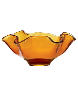 CLOSEOUT! Lenox Gifts, Organics Colored Low Wave Crystal Bowl 10""