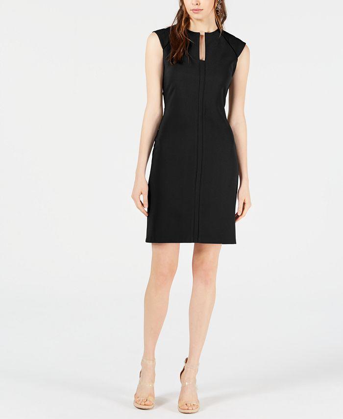 Bar Iii Split Neck Bodycon Dress Created For Macy S Reviews Dresses Women Macy S