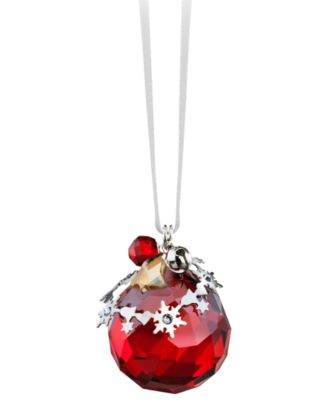 Swarovski Christmas Ornament, Light Siam Satin