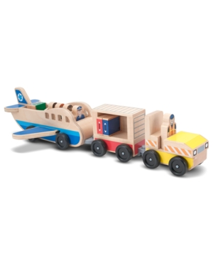 Melissa and Doug Kids Toys, Whittle World Plane and Luggage Carrier Set