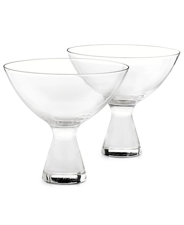 Hotel Collection Plateau Martini Glasses, Set of 2, Created for Macy's