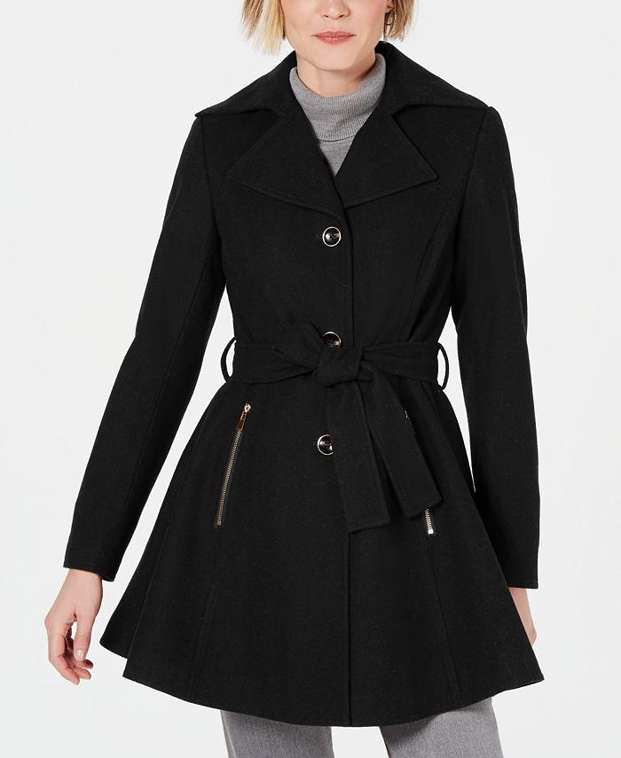 INC International Concepts - Petite Skirted Walker Coat