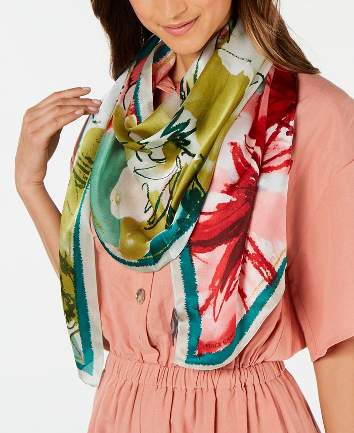 Vince Camuto - Waterpastel Floral Oblong Scarf