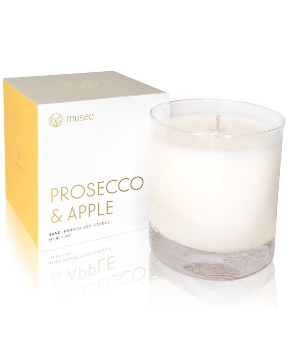 Musee Prosecco & Apple Hand-Poured Soy Candle, 8.8-oz.