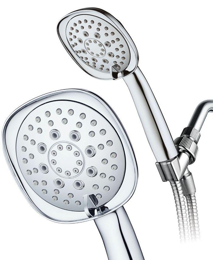 Aquadance - Luxury Square 6-setting High-Pressure Hand Shower