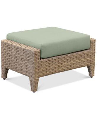 Grand Stafford Outdoor Ottoman with Sunbrella® Cushions
