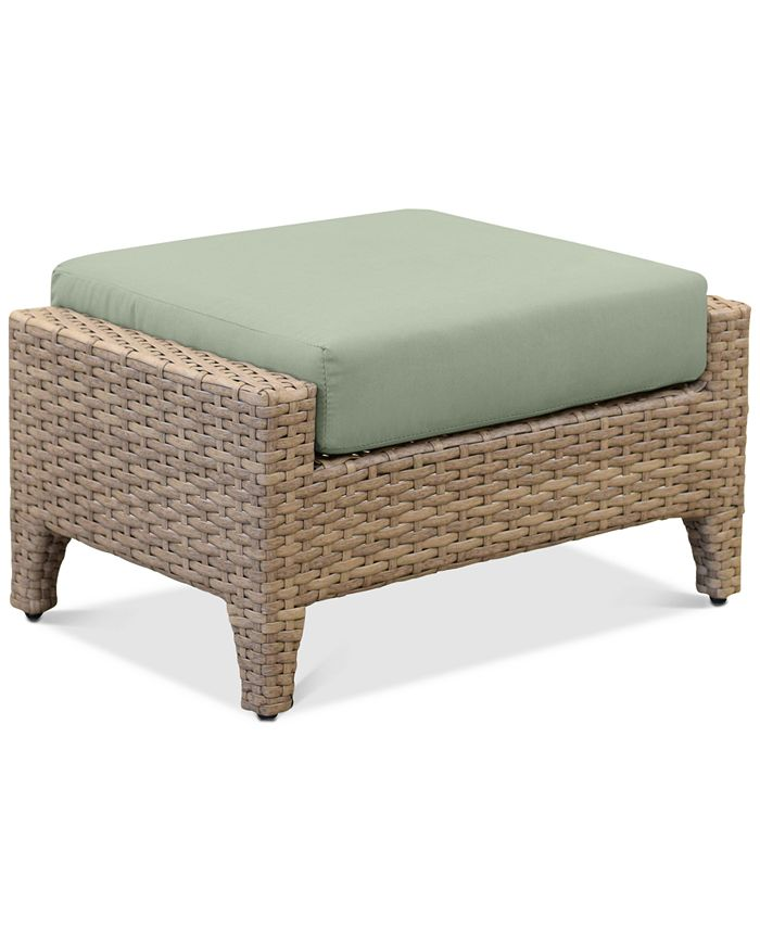 Furniture - Grand Stafford Outdoor Ottoman with Sunbrella® Cushions