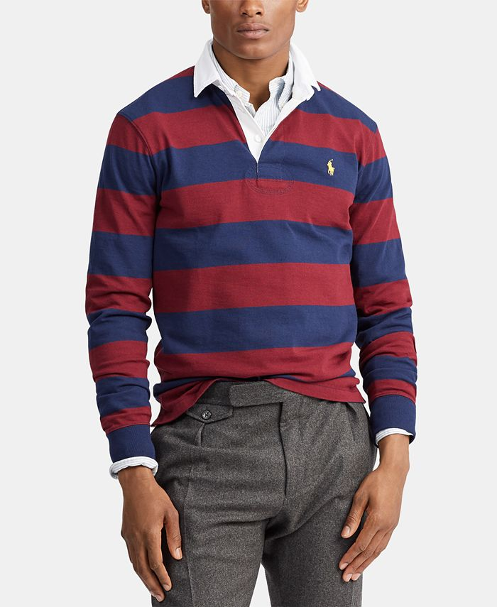 Polo Ralph Lauren Men's Classic Fit Rustic Rugby Polo Shirt ...
