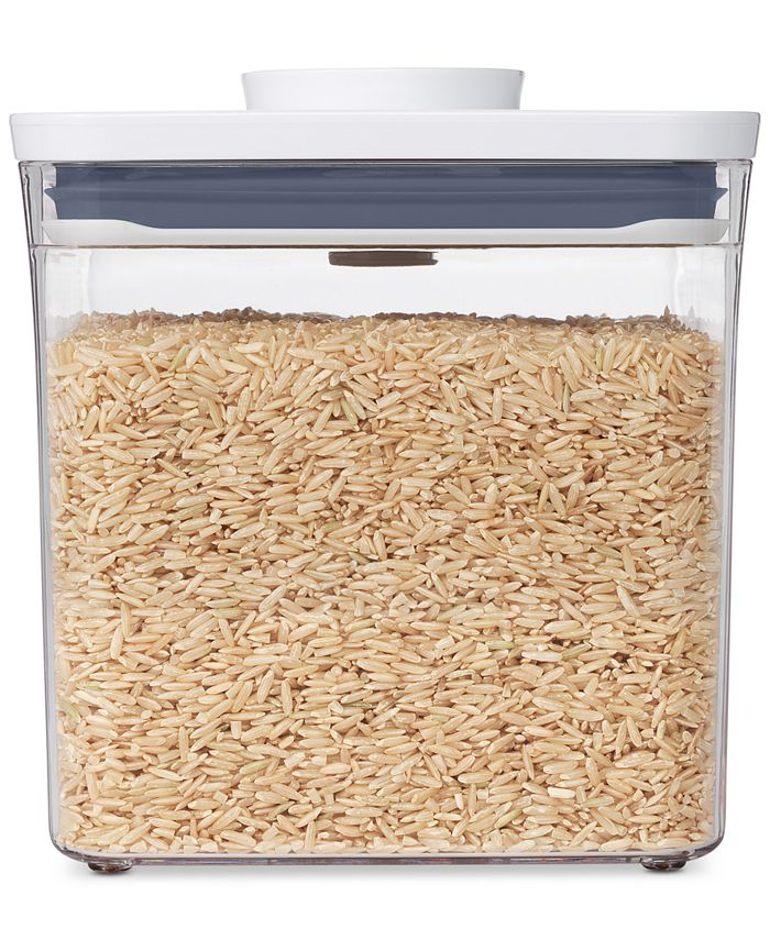 Oxo Pop Big Square Short Food Storage Container Reviews Home Macy S