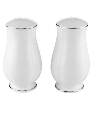 Lenox Dinnerware, Hannah Platinum Salt and Pepper Shakers