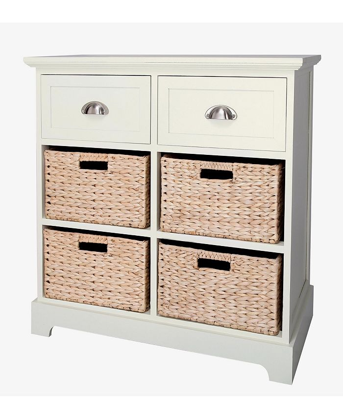 Gallerie Décor - Newport Two Drawer Four Basket Table, Quick Ship