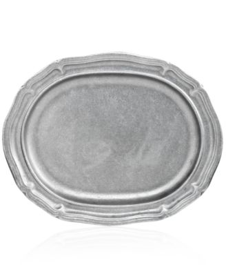 Wilton Armetale Serveware, Country French Matte Large Oval Tray