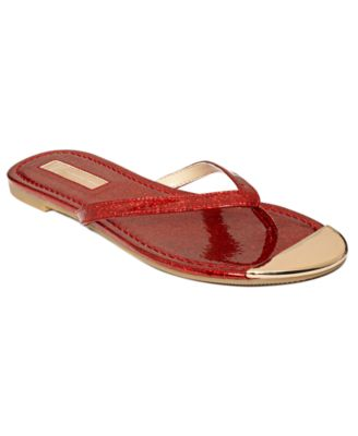 INC International Concepts Womens Shoes Mercer Thong Sandals Womens Shoes