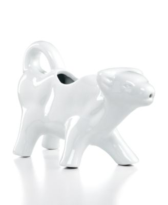 The Cellar Whiteware Cow Creamer