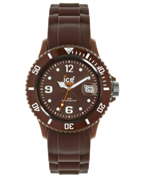 Ice-Watch Watch, Men's Ice-Chocolate Brown Silicone Strap 48mm 102080