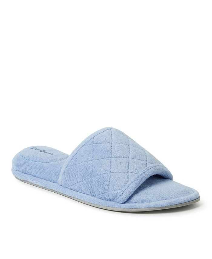 Dearfoams - Microfiber Terry Slide with Quilted Vamp