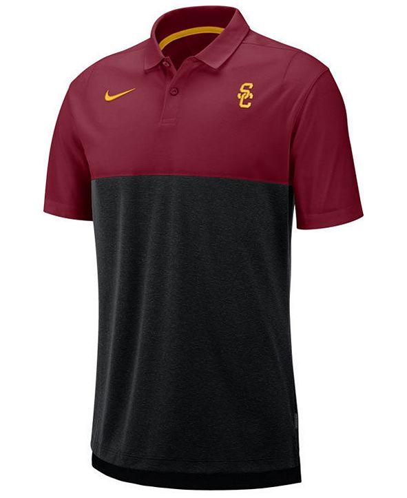 Nike Men's USC Trojans Dri-Fit Colorblock Breathe Polo