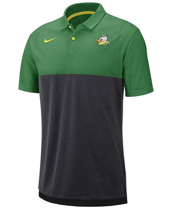 Nike Men's Oregon Ducks Dri-Fit Colorblock Breathe Polo