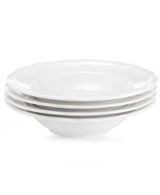 Mikasa Dinnerware, Set of 4 Antique White Fruit Saucers