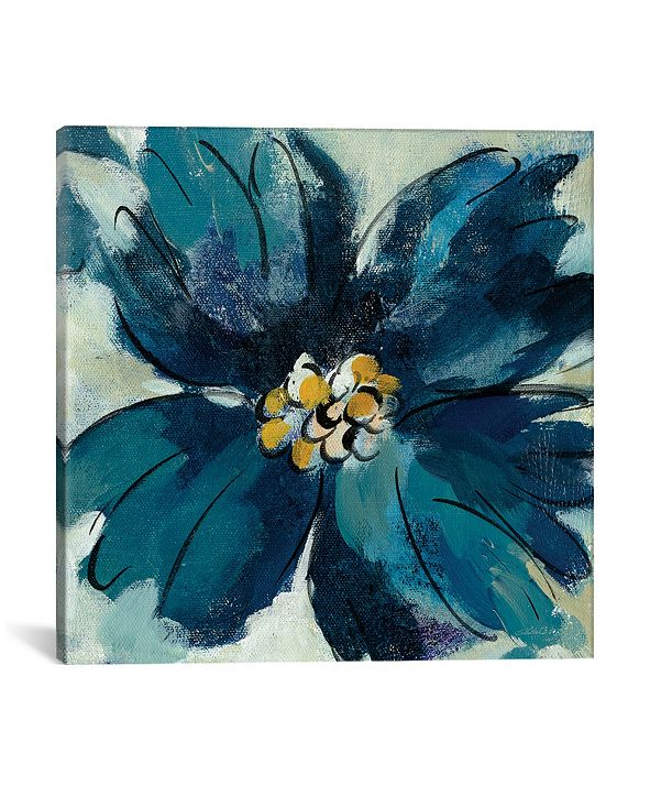 """iCanvas Inky Floral Ii by Silvia Vassileva Gallery-Wrapped Canvas Print - 26"""" x 26"""" x 0.75"""""""
