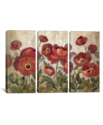 """Daydreaming Flowers Red by Silvia Vassileva Gallery-Wrapped Canvas Print - 40"""" x 60"""" x 1.5"""""""