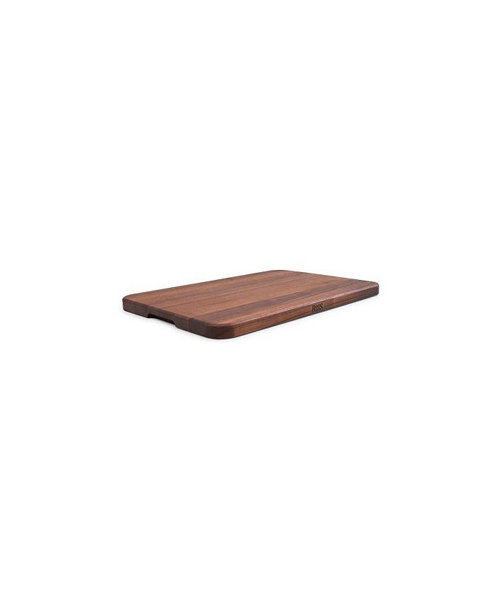 "John Boos - Walnut Wood 17"" x 12"" Reversible Edge Grain Cutting Board"