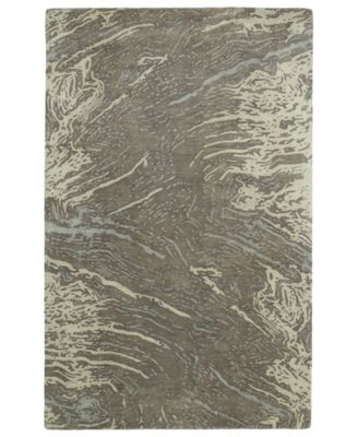 """Brushstrokes BRS01-49 Brown 9'6"""" x 13' Area Rug"""