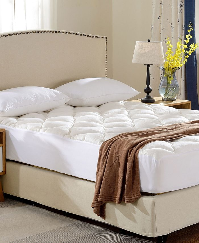 Cheer Collection - Rayon from Bamboo Fitted Down Alternative Mattress Pad-Full