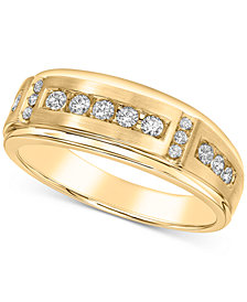 Men's Diamond Band (1/2 ct. t.w.) in 10k Yellow Gold and 10k White Gold