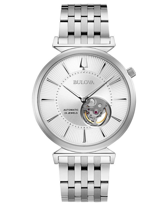 Bulova - Men's Automatic Regatta Stainless Steel Bracelet Watch 40mm