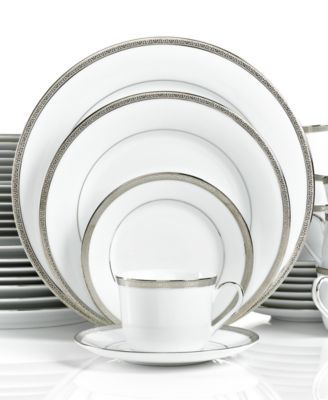 Charter Club Dinnerware, Grand Buffet Platinum 40 Piece Set