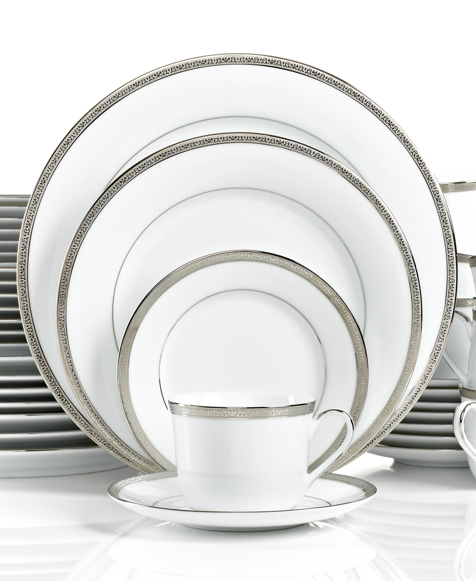 Tremendous Charter Club Dinnerware Grand Buffet Platinum 40 Piece Set Home Interior And Landscaping Ponolsignezvosmurscom