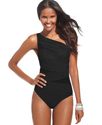 Jena one shoulder one piece swimsuit swimwear women macy s