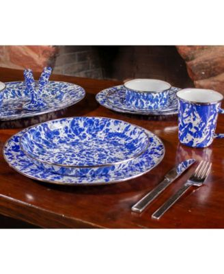 Cobalt Swirl Enamelware Collection 15.5