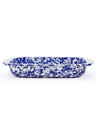 Cobalt Swirl Enamelware Collection 3 Quart Baking Pan