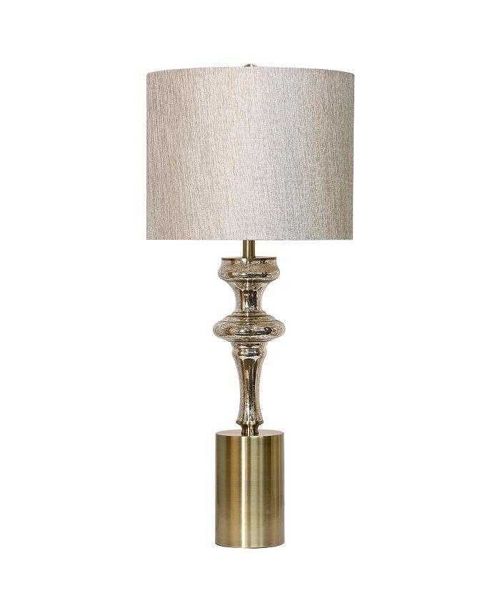 Harp & Finial - Montclair Table Lamp Mercury Glass Body with Metal Base Hardback Shade