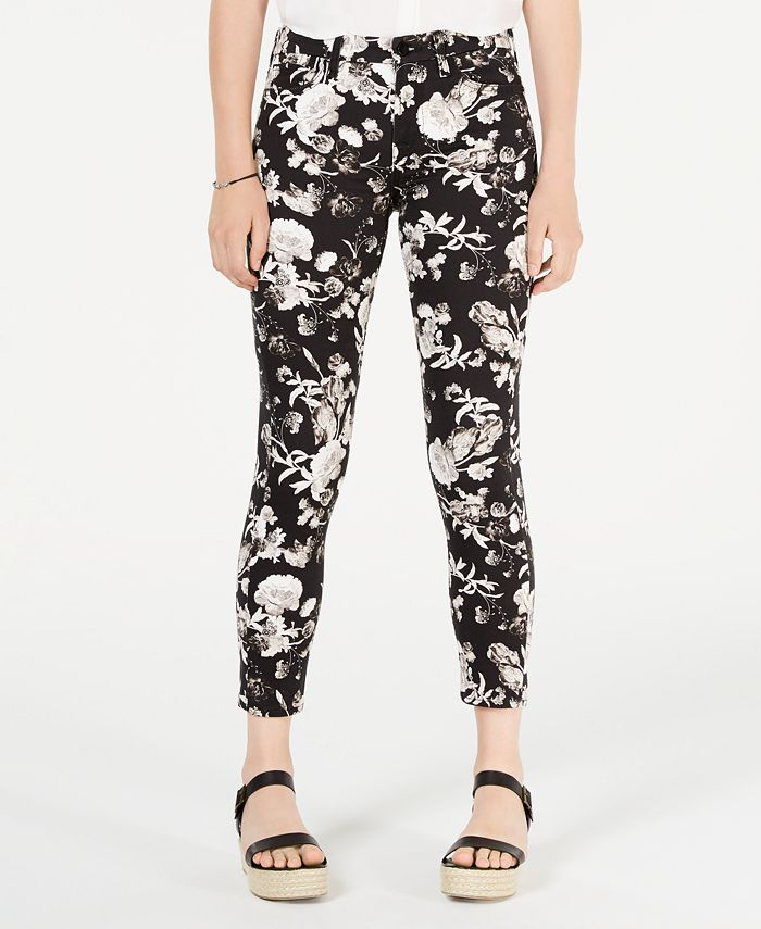 Jen7 by 7 For All Mankind - Floral-Print Ankle Skinny Jeans