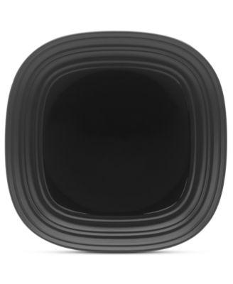 Mikasa Dinnerware, Swirl Square Black Salad Plate