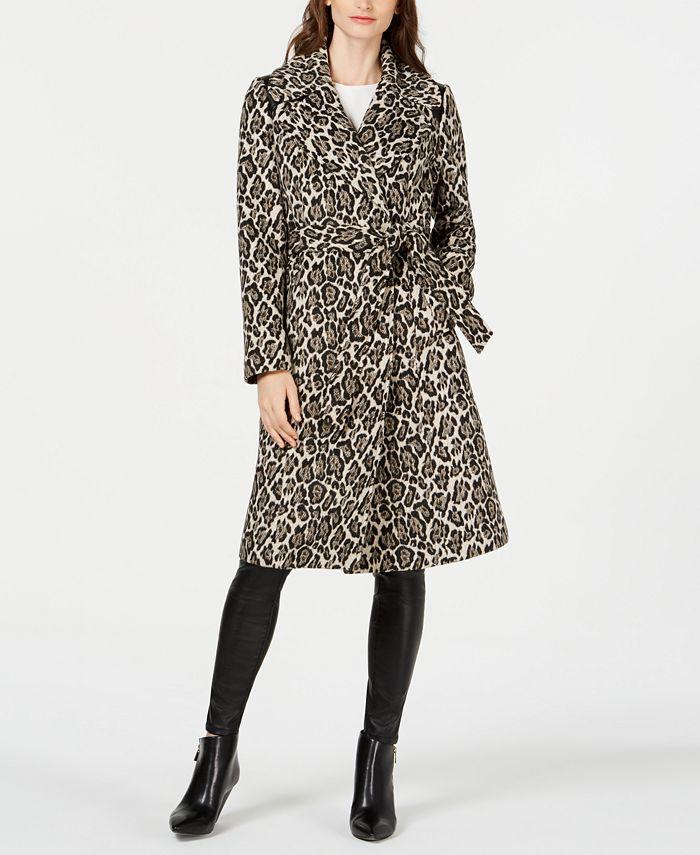 Via Spiga - Animal-Print Belted Coat