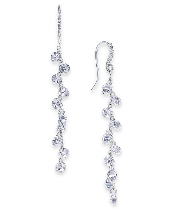 INC International Concepts INC Cubic Zirconia Shaky Linear Drop Earrings, Created for Macy's