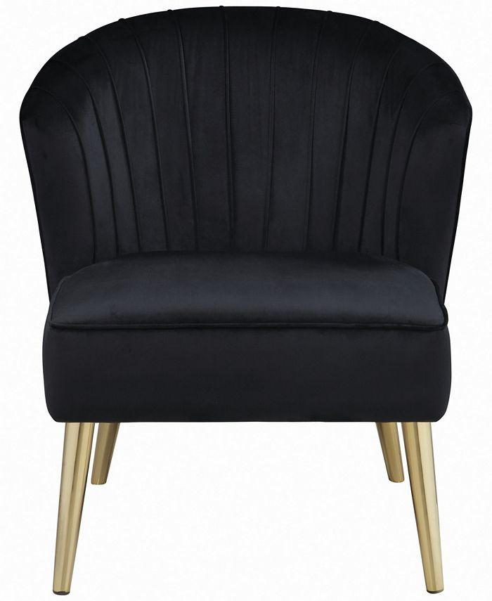 Macy's - Upholstered Accent Chair Black