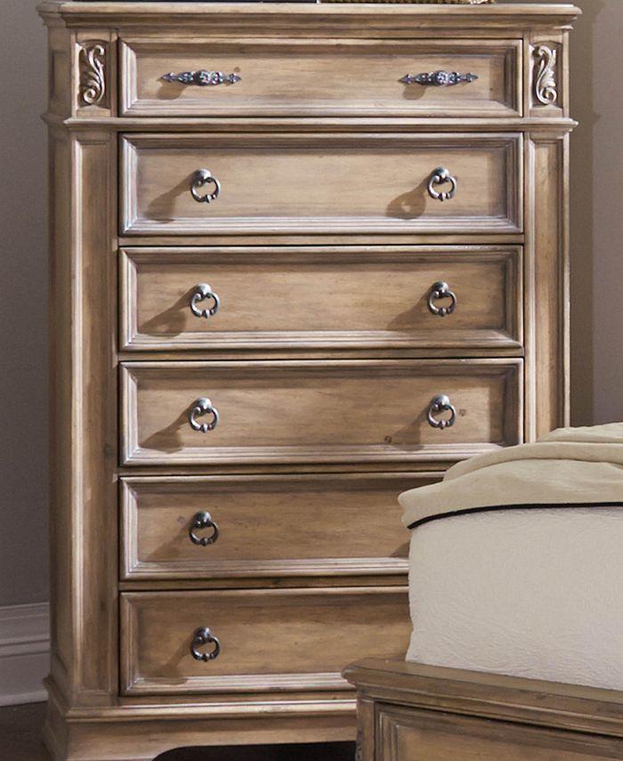 Macy's - Ilana 6-drawer Chest Antique Linen