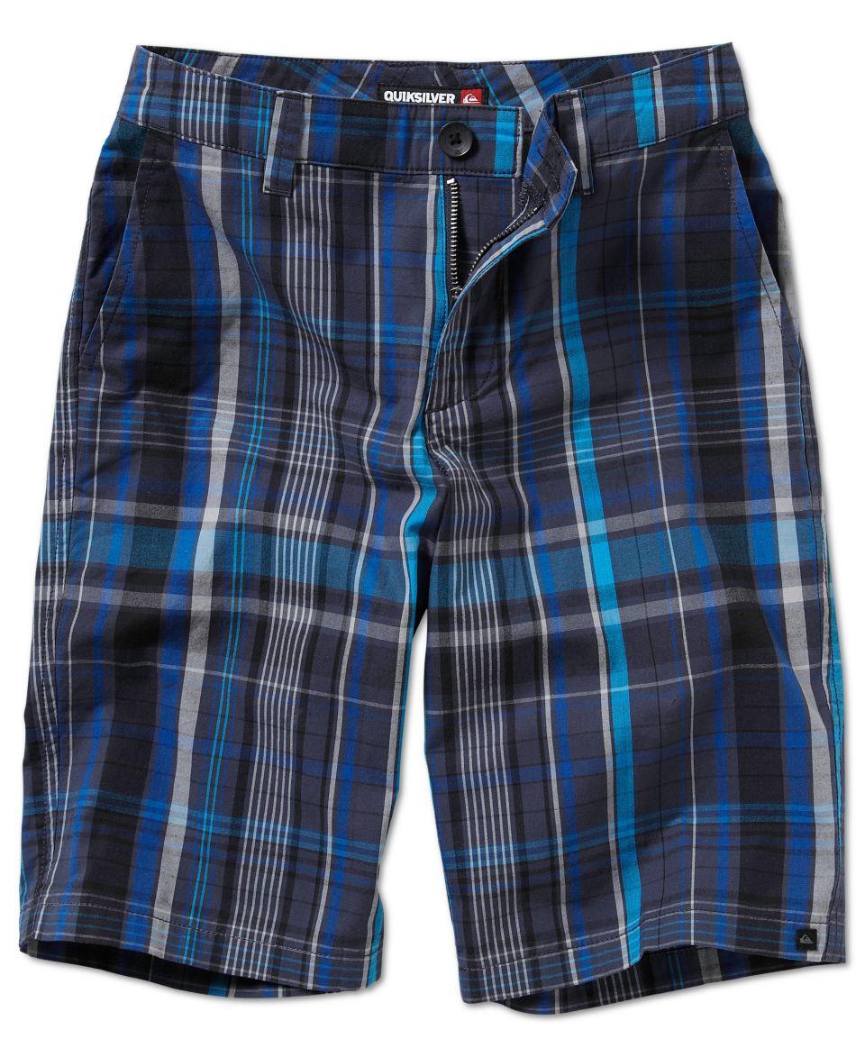 Quiksilver Kids Shorts, Boys Neolithic Amphibian Plaid Shorts   Kids