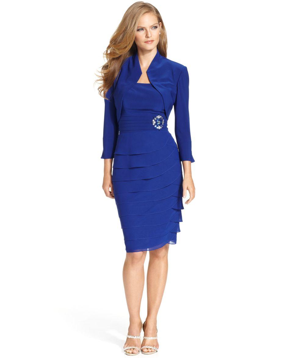 Jessica Howard Sleeveless Tiered Dress and Jacket   Dresses   Women