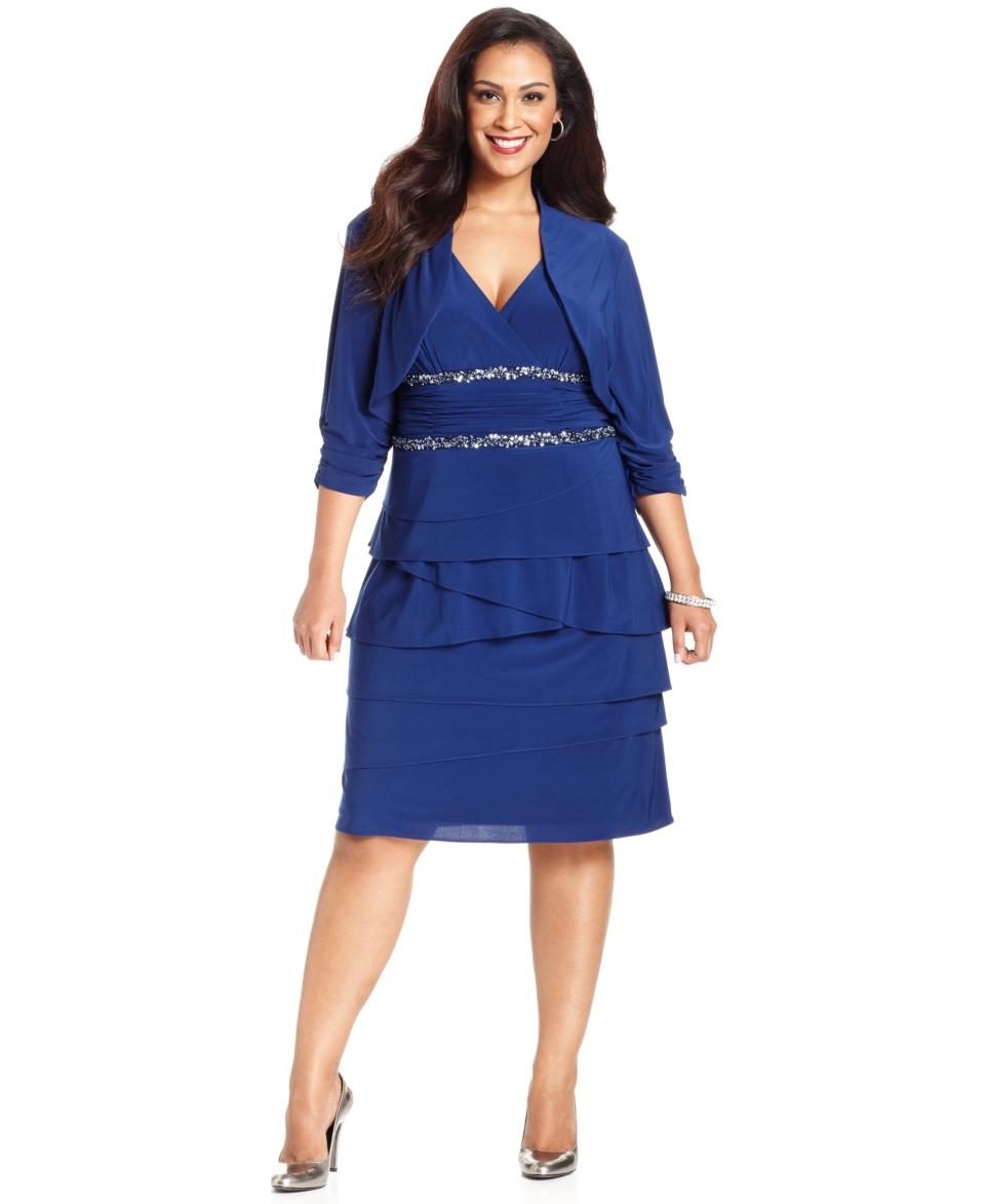 Sl sl fashion dresses - Sl Fashions Plus Size Dress And Jacket Sleeveless Beaded 93